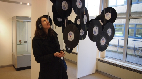 Vinyl record sculpture